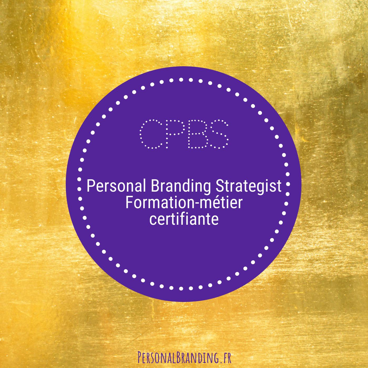 CPBS devenir Personal Branding Strategist